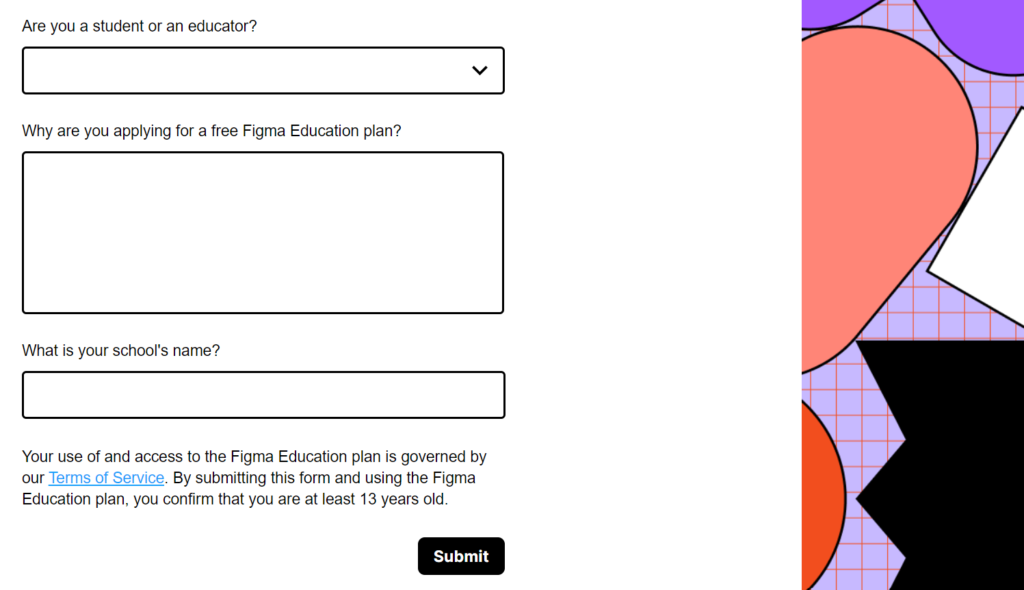 Figma For Students - Application Form